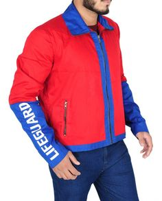 Baywatch Dwayne Johnson Red Costume Red Costume, Costumes, Baywatch, Dwayne Johnson, Celebs, Celebrities, Shirt Style, Red And Blue, Hooded Jacket