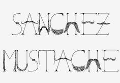 Sanchez Mustache. The font you didn't know you needed. // PaintSewGlueChew.com  #movember #sanchezmustache #freefont