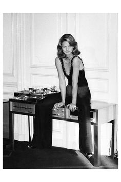 Charlotte Rampling by  Helmut Newton, Vogue, March 1974
