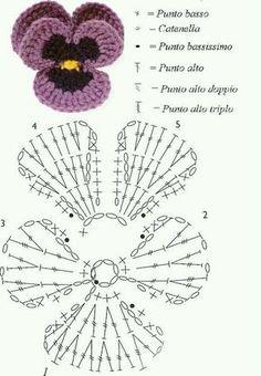 Knitting lace stitches pattern leaves 31 Ideas for 2019 Crochet Leaves, Crochet Motifs, Crochet Diagram, Crochet Stitches Patterns, Crochet Chart, Stitch Patterns, Crochet Flower Tutorial, Crochet Flower Patterns, Crochet Designs