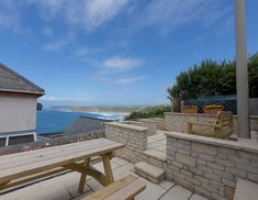 Fernhill apartment sleeps 6 people and has stunning views over Sennen Cove and Cape Cornwall. Refurbished in now ready for bookings. Holiday Cottages In Cornwall, Stunning View, Car Parking, Towels, Wifi, Floor, Patio, Holidays, Outdoor Decor