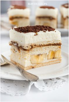 Bananowa krówka - I Love Bake Tasty, Yummy Food, Cake Bars, Homemade Cakes, Sweet Desserts, Toffee, Cake Recipes, Food And Drink, Sweets