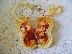 Oh my gosh, butterflies are so popular right now. This is adorable!  #Crochet one for yourself.