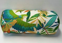 Tropical Richloom Solarium Outdoor Tucuman Multi Parrot Decorative Pillow Cover with Zipper