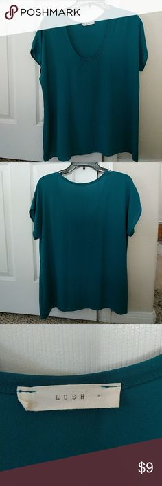 Teal blouse - Lush from Nordstrom Great to wear out! Lush Tops Blouses