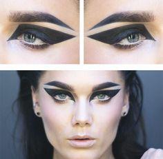 Linda Hallberg - Make-up Look - Goth Makeup, Makeup Inspo, Makeup Art, Makeup Ideas, Hair Makeup, Graphic Makeup, Graphic Eyes, Linda Hallberg, Makeup Remover