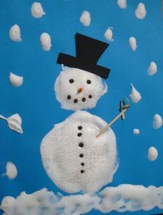 Le bonhomme de neige - chez Maîtresse Patate