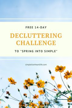Spring into Simple Decluttering Challenge by Simple Lionheart Life. FREE 14-day decluttering challenge to clear the clutter, simplify your home (and life!) and welcome spring with a fresher, lighter, more peaceful home! You'll work to clear the clutter from one key area of your home a day, for 14 days. Sign up today to get daily decluttering tips, along with plenty of decluttering tips and motivation right to your inbox! #declutteringchallenge #declutter #declutteringtips #springintosimple 14 Day Challenge, Peaceful Home, Konmari Method, Making Life Easier, Welcome Spring, Declutter Your Home, Take The First Step, When You Know, Busy Life