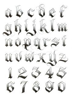 Foto Tattoo Idees tattoo styles, tattoo style names, tattoo styles tattoo styles Calligraphy Fonts Alphabet, Tattoo Fonts Alphabet, Hand Lettering Alphabet, Graffiti Alphabet, Graffiti Numbers, Number Tattoo Fonts, Alphabet Stencils, Tattoo Lettering Styles, Chicano Lettering