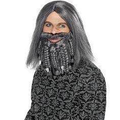 Smiffy's Grey Pirate Wig and Beard Set Pirate Fancy Dress, Halloween Fancy Dress, Adult Halloween, Moustaches, Group Fancy Dress, Boomtown Festival, Mermaid Face Paint, Pirate Face, Dreadlocks