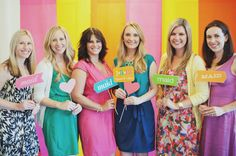 Super cute picture to take at your wedding shower with your bridesmaids!