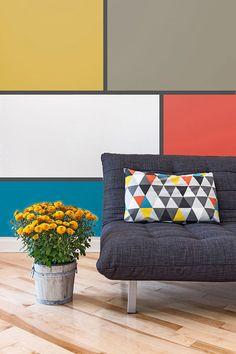 Palette peinture sico 2015 motifs audacieux - Tendances peinture SICO 2015: les couleurs vives à l'honneur