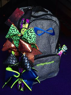 51f07a5e5dc5 Cheer Bow Holder for Backpack by SpotlightCheerBows on Etsy https   www.etsy