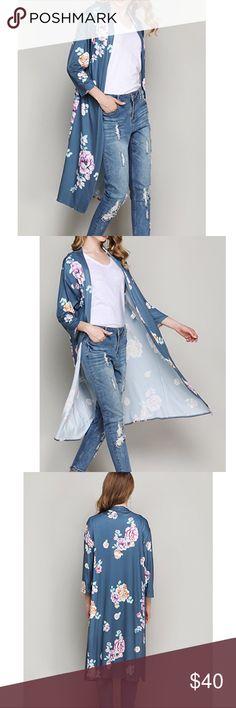 Shop Women's size Various Cardigans at a discounted price at Poshmark. Please ask for your size. Cardigans, Sweaters, Open Cardigan, Fashion Tips, Fashion Design, Fashion Trends, Bell Sleeve Top, Floral, Womens Fashion