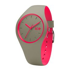 Ice-Watch DUO.KPK.U.S.16 ICE-Duo Khaki Pink horloge | Trendjuwelier.nl