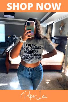 Shop Piper Lou Now! Great Conversation Starters, Tees For Women, Compliments, Video Games, Shop Now, Comfy, Fitness, Cute, People