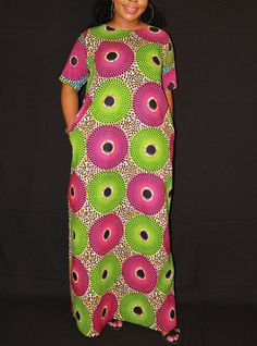 Maxi dress/African clothing/Ankara Maxi dress/African Print Maxi Dress/Loose Maxi dress/plus size Maxi dress/African clothing for women at Diyanu Ankara Maxi Dress, African Maxi Dresses, African Dresses For Women, Plus Size Maxi Dresses, Short Sleeve Dresses, Skirt Fashion, Fashion Dresses, Couture, Ankara Styles