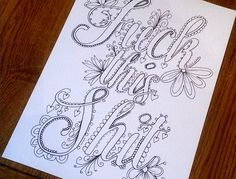 Color in curse words with this new coloring book.