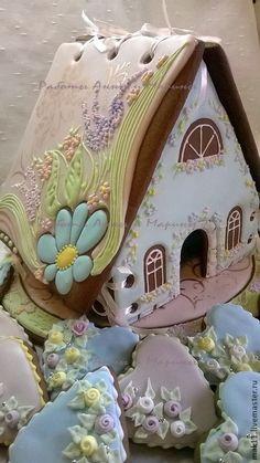 """Купить Пряничный домик """"Свадебная пастель"""" с пряниками-подарками гостям. - пряничный домик, пряники"""