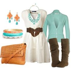 Love this color combo and with boots!