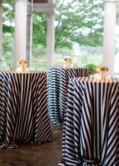 12 Black and White table cloth, Black and White Stripe Tablecloth, Black and White Striped, wholesale lot of 12 Table cloth, Wedding table by GlitzyDecor on Etsy https://www.etsy.com/listing/455508464/12-black-and-white-table-cloth-black-and