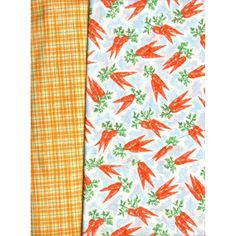 2 Pieces Cotton/Cotton Blend Craft Fabric with Carrot Design or Plaid Listing in the Other,Yardage,Fabrics,Crafts, Handmade & Sewing Category on eBid United States | 147653817