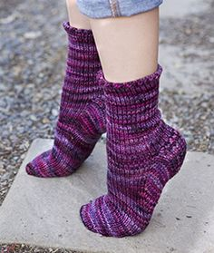 Basic toe-up socks pattern with a knitted-in heel flap that you can adjust for a high instep. This video shows you how to turn the heel.
