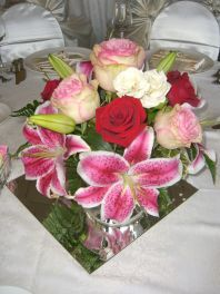 reception table flower centerpieces...a blooming idea...local florist