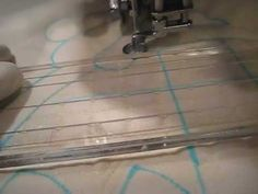 ▶ Free Motion Quilting Ruler Work on Sewing Machine - YouTube