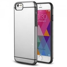 Phone 6 case – INVELLOP GRAY/CLEAR iPhone 6 Case [Prime Series] Scratch-Resistant Clear Slim Fit Cover with Shock Absorbent TPU Hybrid Bumper Protection iPhone 6 4.7 Case (Gray/Clear)