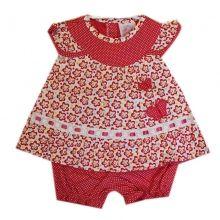 Craquez sur cet ensemble pur coton très fashion vendu à petit prix sur Ventegros.fr pour faire plaisir à vous cher parents ainsi qu'à votre bébé pour le confort et l'aisance fournit. Habillement à 2 pièces contenant une tunique imprimée fleurie avec papillon et empiècement à pois, assortie avec un bloomer à pois. Tailles assorties : 0-12 mois.