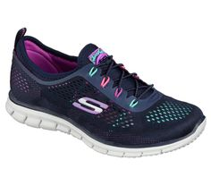 bfdafd9e20298 sketchers stretch fit glider in navy/multi Comfortable Sneakers, Shoes  Online, Stretches,