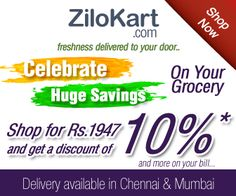 Celebrate Huge Savings On Your Grocery Only at Zilokart.com