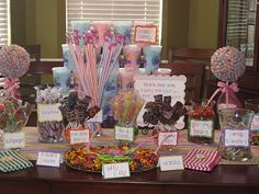 Candy Bar they pack their own gift bags - this would be neat for a kids party. (need to keep this in mind)