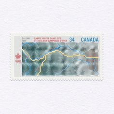 Calgary Winter Olympic Games Site (34c). Canada, 1988. Design: Pierre-Yves Pelletier. #mnh #graphilately | Flickr - Photo Sharing!