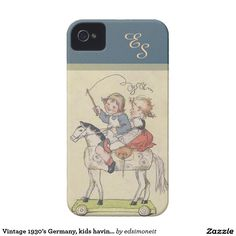 Vintage 1930's Germany, kids having fun iPhone 4 Case-Mate Case