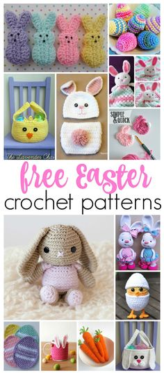 So many adorable free Easter crochet patterns...bunnys, chicks, eggs, plushes etc!!
