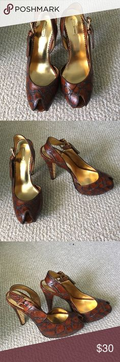 Report Signature peep toe sandals Peep toe sandals - never worn outside! Report Signature Shoes Sandals