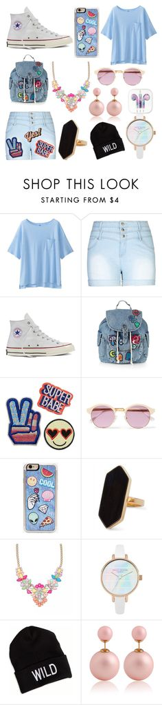 """summer look #11"" by cherlina-nelemans2003 on Polyvore featuring mode, Uniqlo, City Chic, Converse, Topshop, Sheriff&Cherry, Zero Gravity, Jaeger, American Eagle Outfitters en Anya Hindmarch"