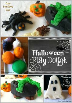 Halloween play dough - love this Halloween colored play dough for lots of sensory and imaginative play. What a great fine motor activity as well.