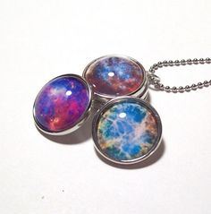 3 Space Snap Button Necklace snap charm set popper noosa