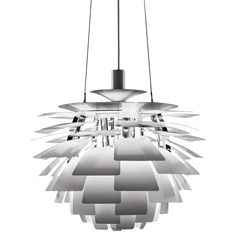 """Discover the authentic Artichoke Lamp, a modern chandelier designed by Poul Henningsen and composed of layers of overlapping copper """"leaves"""" for glare-free light. This midcentury modern lamp is produced by Louis Poulsen Lighting. Ceiling Pendant, Pendant Lighting, Ceiling Lights, Pendant Chandelier, Ceiling Fixtures, Ceiling Lamp, Modern Chandelier, Modern Lighting, Chandelier Creative"""
