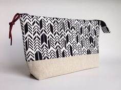 Makeup Bag with Waterproof Lining Zippered Pouch by MadeOnMainVT