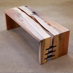 Urban Hardwoods of the Pacific Northwest Wood bench Timber Furniture, Industrial Furniture, Rustic Furniture, Furniture Projects, Wood Projects, Furniture Design, Furniture Plans, Woodworking Plans, Woodworking Projects