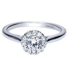 14k White Gold Contemporary #GabrielCo #engagement