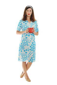 Retro Dress50s Womens DressVintage DressDotts by shpirulina