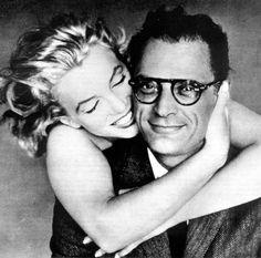 Marilyn Monroe with her husband Arthur Miller