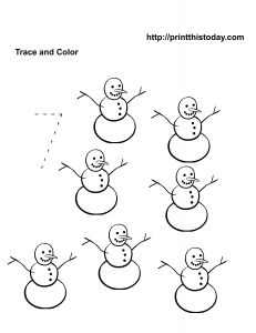 number 7 coloring pages for preschool | Number 7 Worksheets | Coloring Number 7 - Vehicles Theme ...