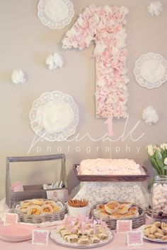 shabby chic one year birthday party from sweet living and things