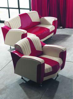 Mobiliario Retro Diner Americano y Jukebox Car Part Furniture, Art Deco Furniture, Retro Furniture, Unique Furniture, Home Furniture, Dream Furniture, Furniture Ideas, Muebles Art Deco, European Home Decor